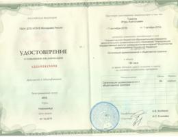 Удостоверение-Организация-здравоохранения-Туманов-И.А