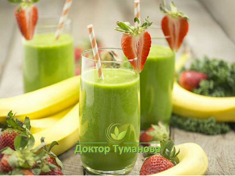 зеленые-коктейли